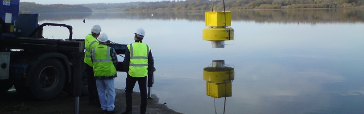 Custom made reservoir temperature monitoring bouy uses VersaNet2